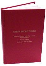 Three Short Works, Rogers, hardback
