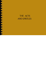 Acts and Epistles