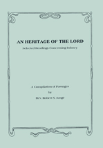 An Heritage of the Lord: Selected Readings Concerning Infancy