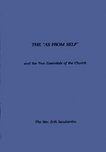 "The ""As From Self"" and the Two Essentials of the Church"