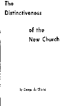 Distinctiveness of the New Church